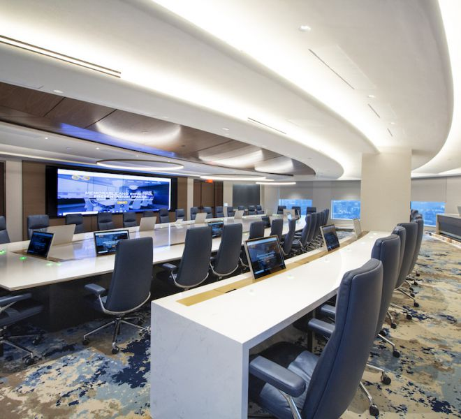 Healthcare Board Room Technology - Wide View