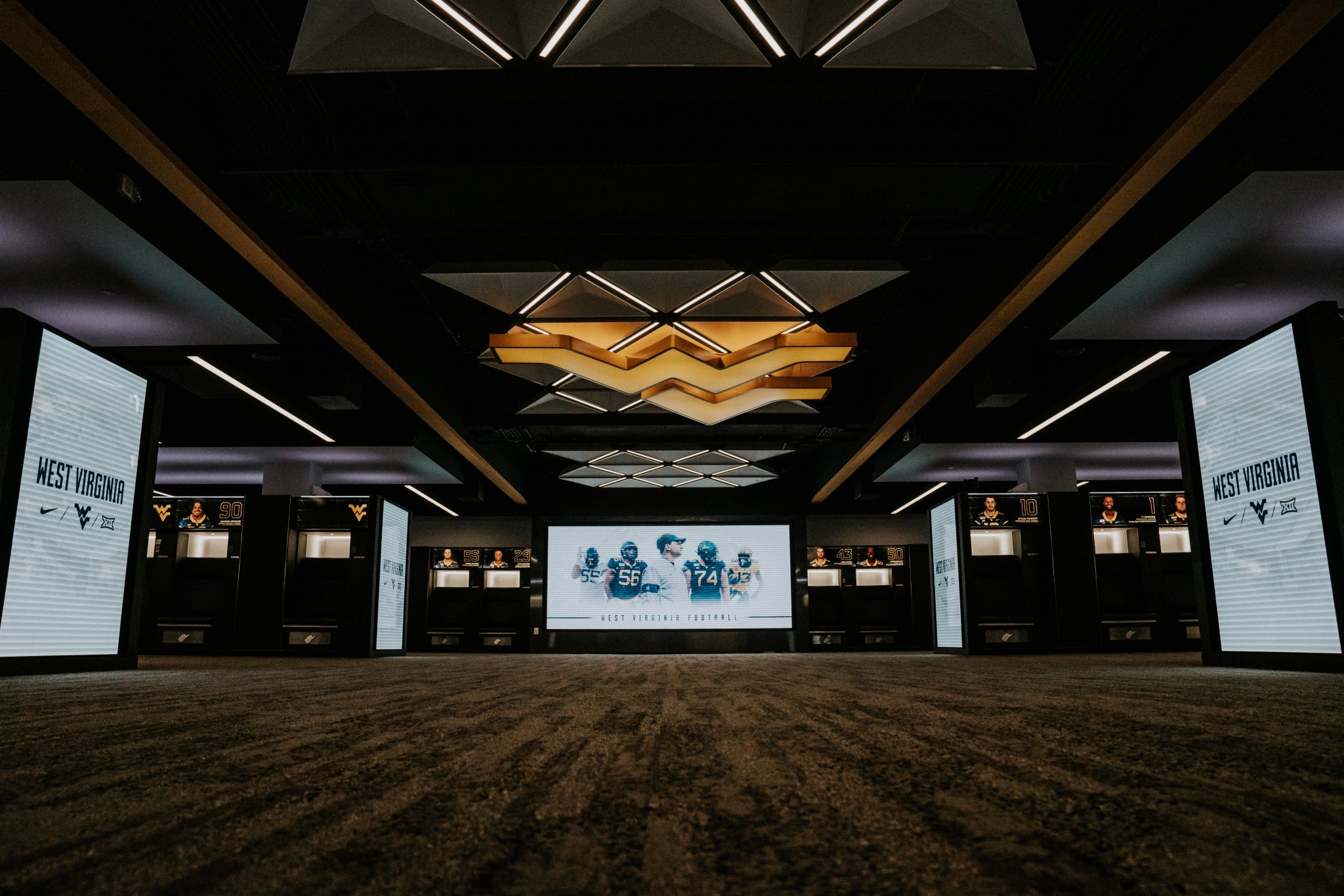 West Virginia University - Football Locker Room Technology